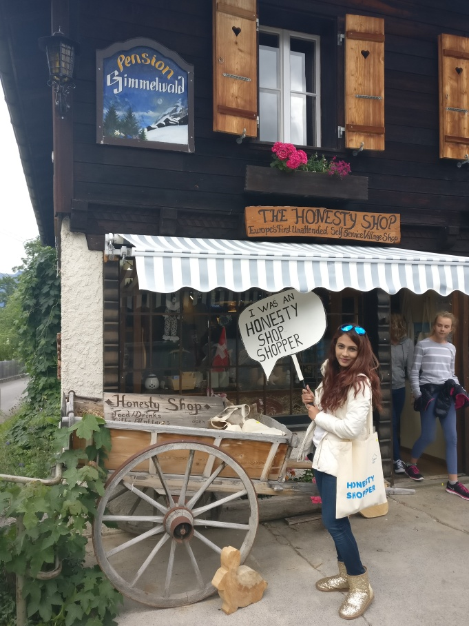 Honesty shop at Gimmelwald
