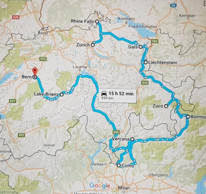 Road Map Of Northern Italy.Roadtrip In Switzerland Northern Italy World Is My Runway